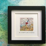 Framed Map & GPS Coordinates - Custom Map Gift - Latitude Longitude - Engagement Gift - Gallery Wall Art - 5x5 Inch Frame - Graduation Gift