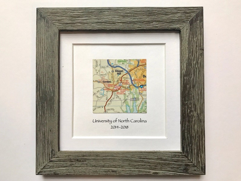 Barn Wood Style Frame with Map and Text  Customized  Map image 0