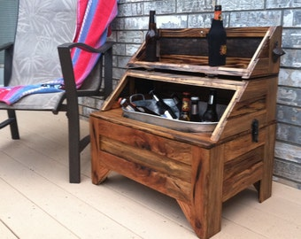 Ordinaire WashTub Beer Cooler Horizontal   Oak Barn Wood, Home And Living, Patio  Furniture   MADE TO ORDER