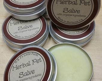Herbal Pet Salve, with organic ingredients, 2 oz.