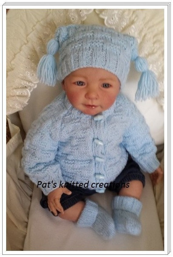 Tommy  BabyReborn Knitting Pattern to fit 0-3 months