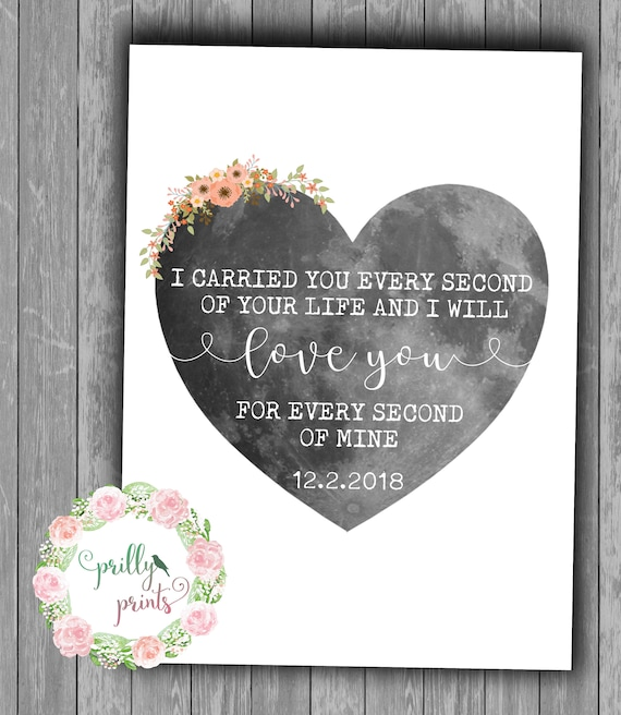 Miscarriage Loss - Moon Print - Miscarriage Quote Print