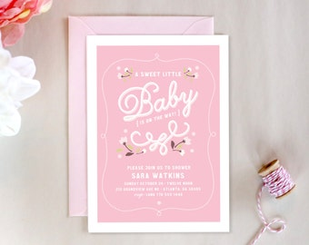 Digital Baby Shower Invitation // Sweet Baby Pink