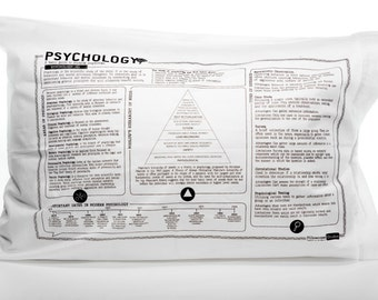 Psychology Printed Study Pillowcase