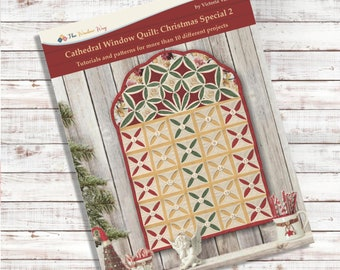 Cathedral window Christmas Book 2. PDF Download + Video tutorials and patterns. More than 10 projects.
