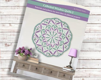 Cathedral window quilt 2. Book. PDF Download + Video tutorials and patterns. More than 10 projects.