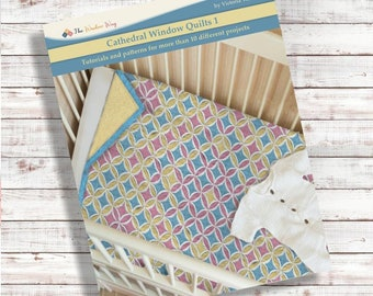 Cathedral window quilts 1. Book. PDF Download + Video tutorials and patterns. More than 10 projects.