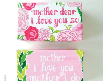 Mother's Day Printable DIY Soap Wrappers • Personal Use