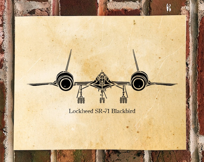 KillerBeeMoto:  Limited Print SR71 Blackbird Spy Plane Aircraft Print