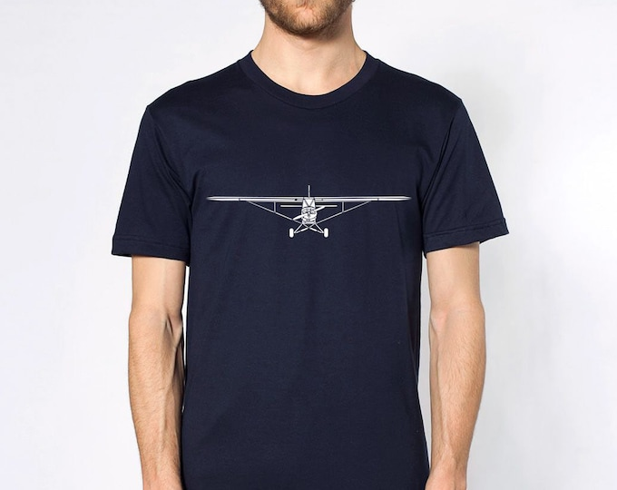 KillerBeeMoto: Limited Release PA-18 Airplane Short Or Long Sleeve T-Shirt