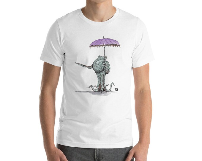 KillerBeeMoto: Octopus With An Umbrella Short or Long Sleeve T-Shirt