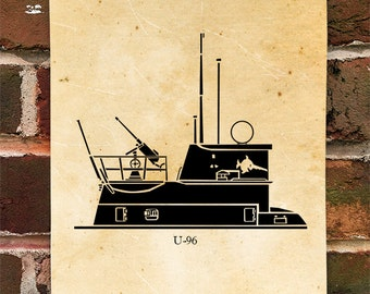 KillerBeeMoto: Limited Print U-96 German U-Boat Submarine Print 1 of 100