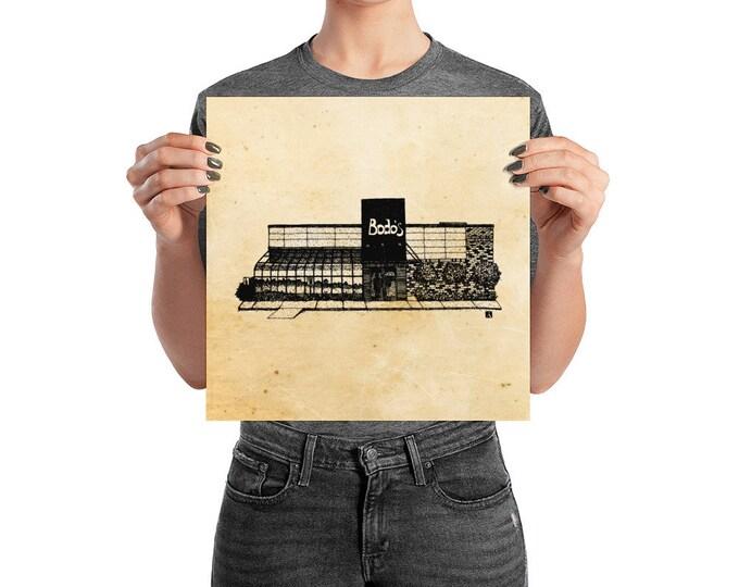 KillerBeeMoto: Charlottesville Area Bucket List Bodo's Bagels Shop Ink Sketch Drawing On Various Mediums