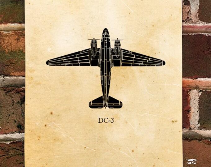KillerBeeMoto: Limited Print DC3 Artwork