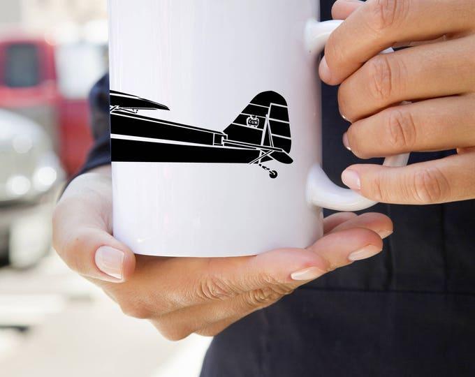 KillerBeeMoto: Coffee Mug Limited Release J-3 Recreational Aircraft Drawing On Coffee Mug