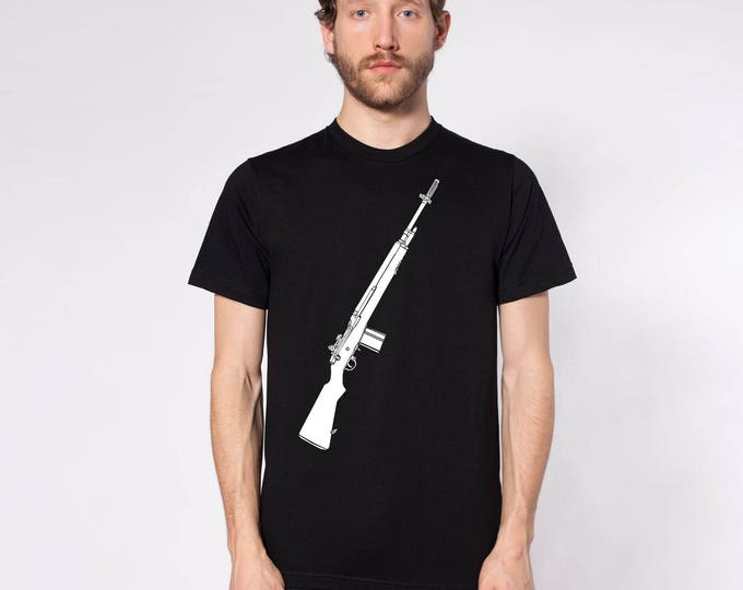 KillerBeeMoto: M14 Rifle On Short or Long Sleeve T-Shirt