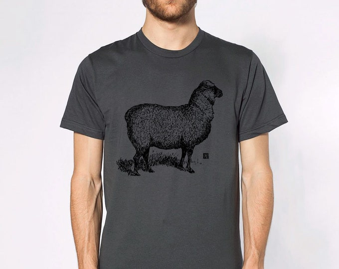 KillerBeeMoto: Hand Drawn Sheep Graphic On Short or Long Sleeve T-Shirt