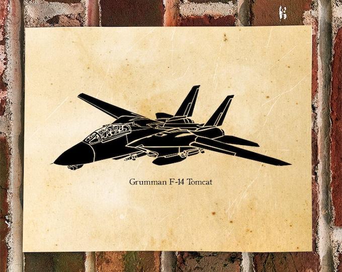 KillerBeeMoto: Limited Print F-14 Tomcat Fighter Jet Aircraft Print 1 of 50