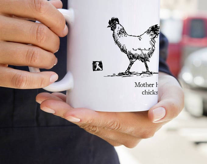 KillerBeeMoto:  Mother Hen Walks Her Chicks To School   Coffee Mug