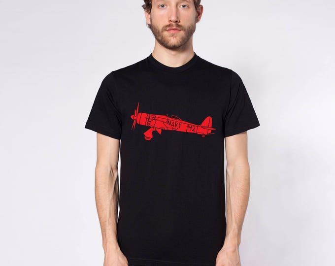 KillerBeeMoto: Limited Print Sea Fury Fighter Aircraft Short or Long Sleeve T-Shirt