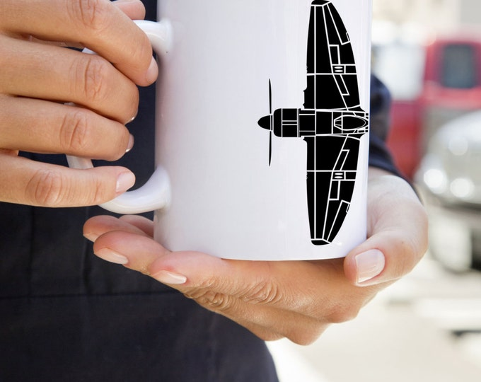 KillerBeeMoto: Coffee Mug Tempest Fighter Aircraft Top Down View