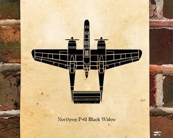 KillerBeeMoto: Limited Print P-61 Black Widow Fighter Plane
