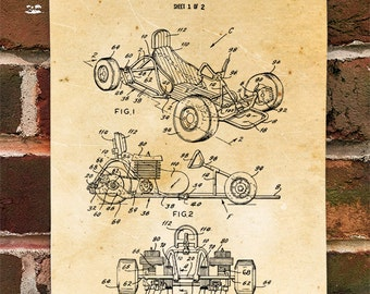 KillerBeeMoto: Duplicate of Original U.S. Patent Drawing Motorized Go Kart