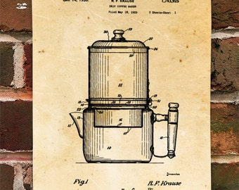 KillerBeeMoto: Duplicate of Original U.S. Patent For Vintage Coffee Maker