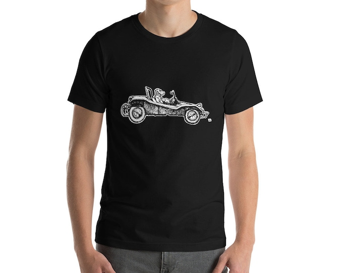 KillerBeeMoto: Chimpanzee Monkey Driving A Dune Buggy Short or Long Sleeve T-Shirt