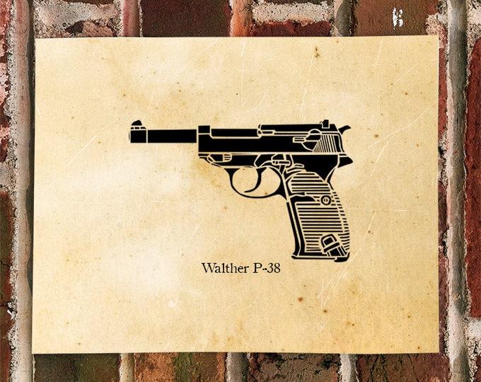 KillerBeeMoto: Limited Print P38 Pistol Print