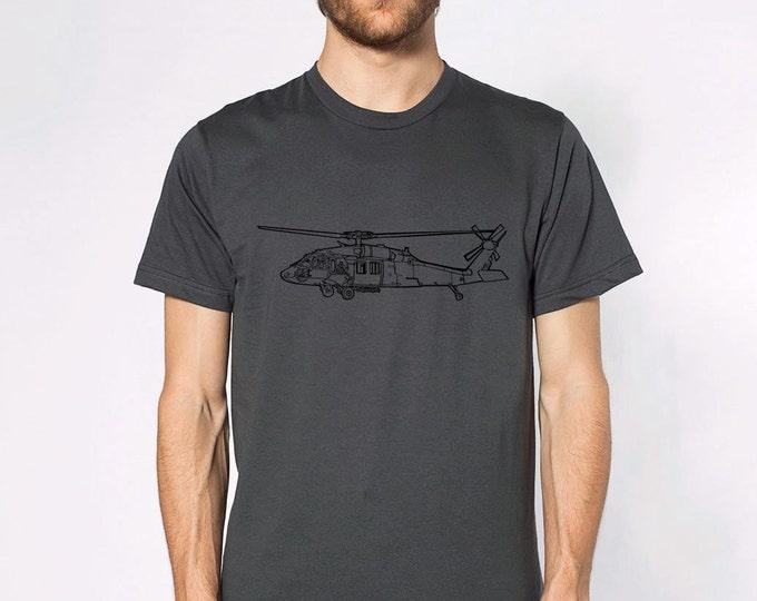 KillerBeeMoto:  Black Hawk Helicopter Short & Long Sleeve T-Shirt Cartoon Version