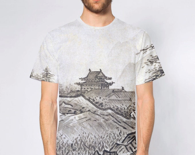 KillerBeeMoto: Black & White Japanese Ink Wash Painting By Sesshu Toyo On T-Shirt