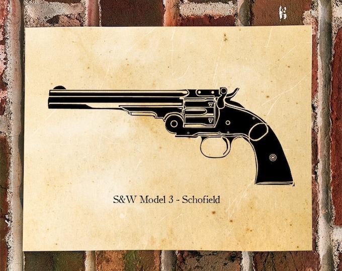 KillerBeeMoto: Schofield Pistol Print