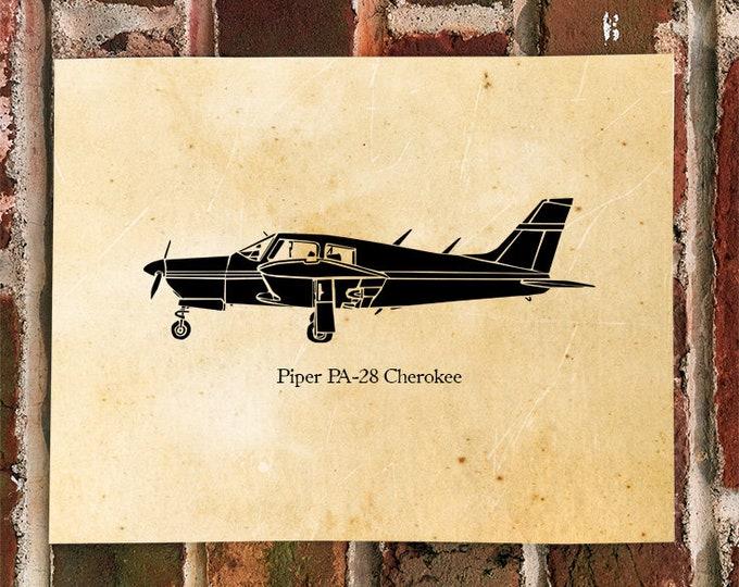 KillerBeeMoto: Limited Print Piper PA-28 Cherokee Aircraft Print 1 of 100