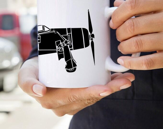 KillerBeeMoto:    Coffee Mug F8F Bearcat World War Two Fighter Aircraft