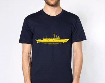 KillerBeeMoto: Oliver Hazard Perry Frigate With Custom Ship Labels Short & Long Sleeve Shirt