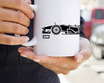 KillerBeeMoto:    Limited Release Formula 1 Style Race Car Coffee Mug (White)