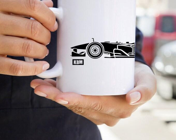 KillerBeeMoto:    Limited Release Style Open Wheel Race Car Coffee Mug (White)