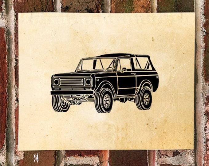KillerBeeMoto: Limited Print Vintage American SUV Print 1 of 50