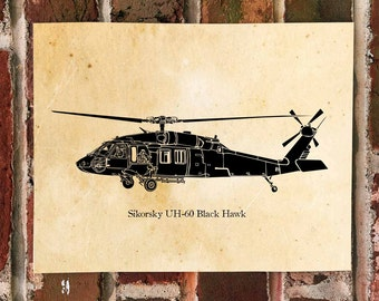 KillerBeeMoto: Limited Print Sikorsky UH-60 Black Hawk Helicopter Print 1 of 50