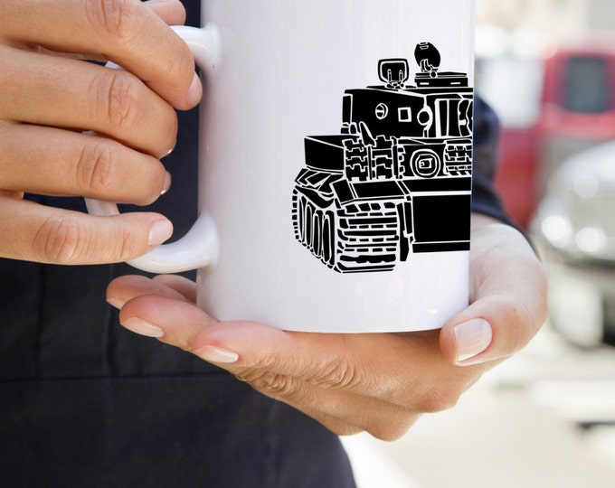 KillerBeeMoto:    World War 2 German Tiger Tank I Mug (White)