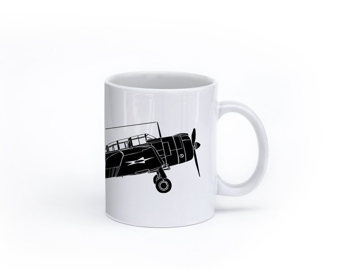 KillerBeeMoto:  SBD Dauntless Aircraft On A White Coffee Mug