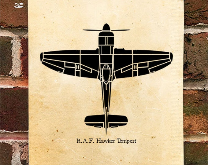 KillerBeeMoto: Limited Print RAF Hawker Tempest Fighter Airplane Print 1 of 50
