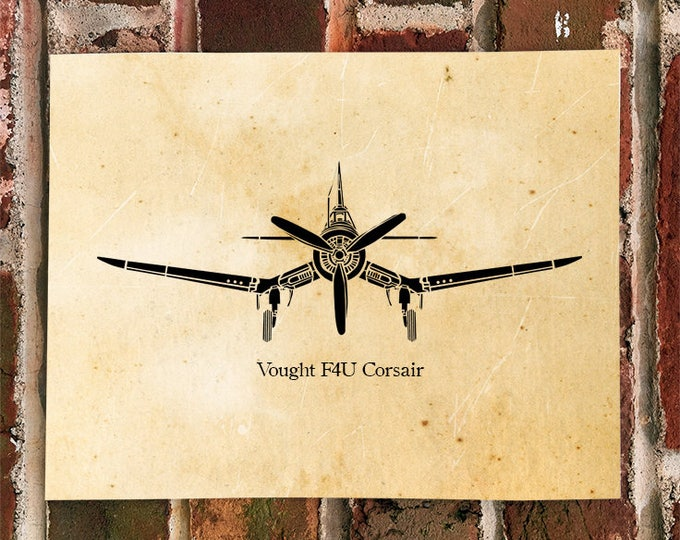 KillerBeeMoto: Limited Print Vintage Chance Vought F4U Corsair Fighter Plane Print 1 of 50
