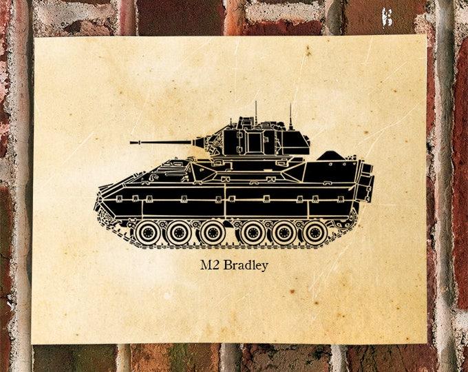 KillerBeeMoto: Limited Print of A M2 Bradley Fighting Vehicle Tank