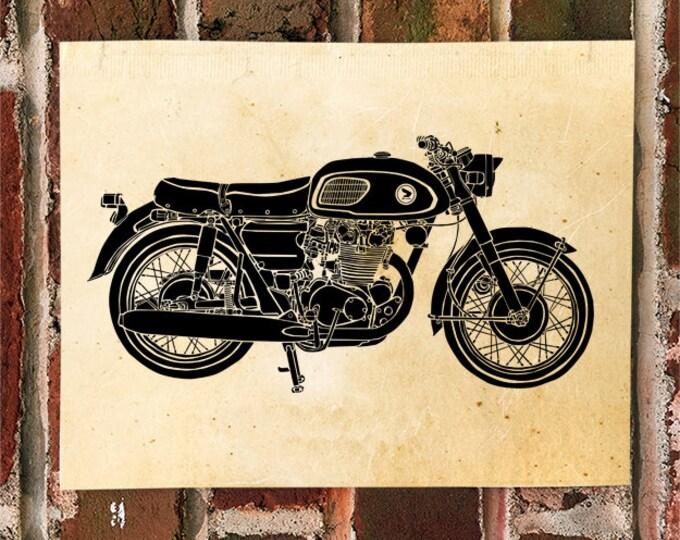 "KillerBeeMoto: Limited Print Japanese Engineered Vintage Cafe Racer ""Black Bomber"" Drawing 1 of 50"