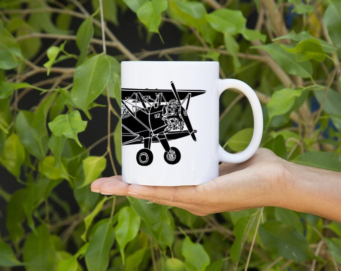 KillerBeeMoto:  Coffee Mug Model 75 Bi-Plane Aircraft