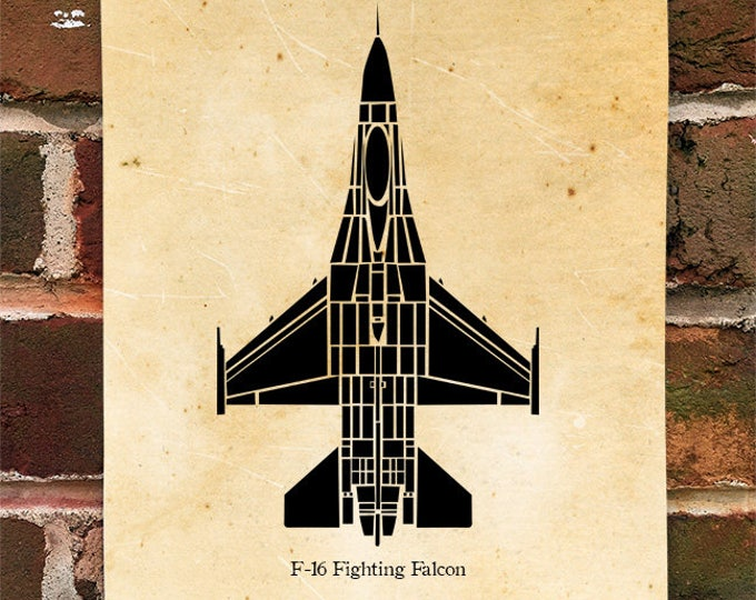 KillerBeeMoto:    F16 Fighting Falcon Print