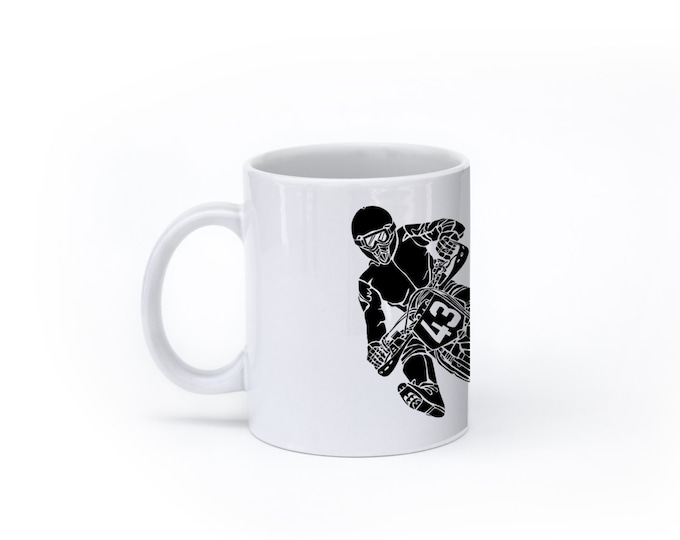 KillerBeeMoto:    Coffee Mug SuperMoto Hard Tarmac Racer Coffee Mug (White)