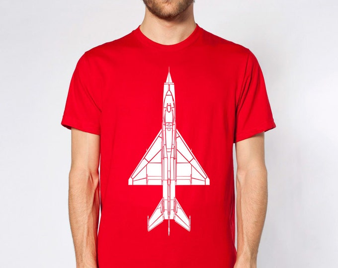 KillerBeeMoto: Mikoyan-Gurevich MiG-21 Jet Aircraft Short And Long Sleeve Shirt Cartoon Version